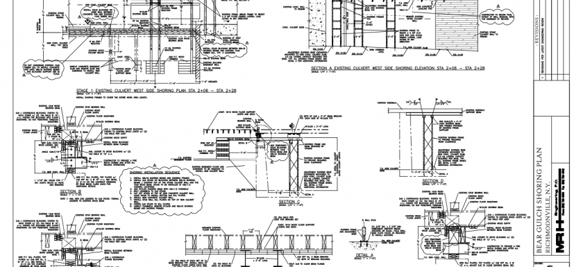 Shoring System Design for a Storm Drainage Culvert
